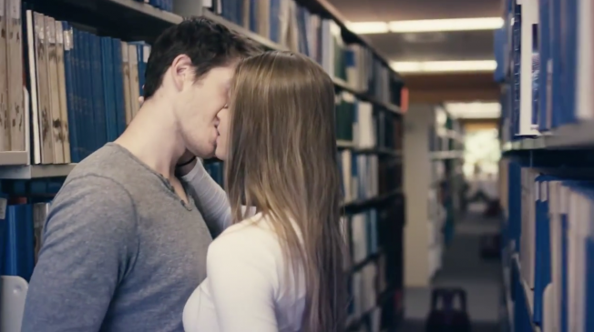 College Ad with Couple Kissing in the Library Boosted Applications and Just Won an Award